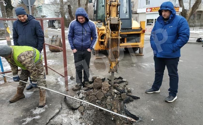 В Новомосковске перекрыли часть улицы Шевченко