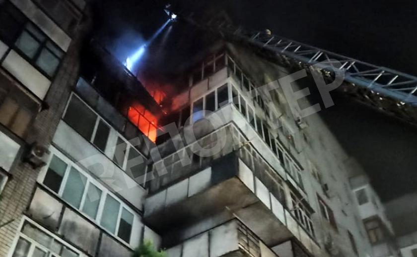 В центре Новомосковска сгорели пять квартир многоэтажки